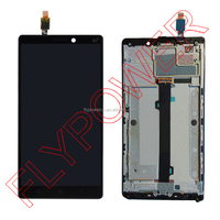 For Lenovo K920 LCD Display Screen With Touch screen Panel digitizer +Frame assembly by free shipping; 100% warranty