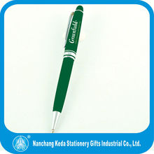 Wholesale high quality green Ball Point pen with customized silk screen logo as your requirement