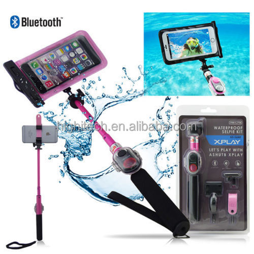 waterproof bluetooth selfie stick with remote for phones buy waterproof selfie stick. Black Bedroom Furniture Sets. Home Design Ideas