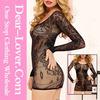 2015 hot new arrive unique design sexy black siren faux lace chemise lingerie