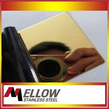 Mellow Stainless Steel Sheet Metal Ti- Colored Coating Surface With 11 Year Experience Factory