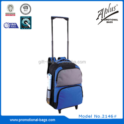 Portable 600D unisex cheap trolley backpack