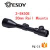 Hunting 3-9 x 50 E Red & Green Dot Illuminated Optics Riflescope Sight 20mm Rail
