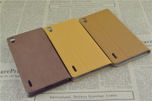 Factory price phone case for Huawei P7 PU Leather
