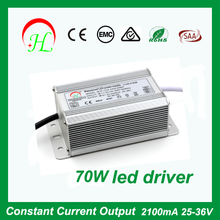 2100mA Constant current led driver 70W Waterproof ac/dc power supply