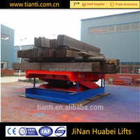 track type lifter stationary industrial platform scissor lift
