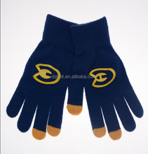 Promotional Custom Logo Printed Capacitive Winter Glove with colourful finger