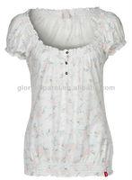 Floria printing shirts for muslim women