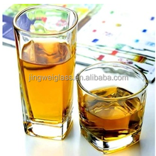 Square Shaped Drinking Glass For Water,Whisky,Juice