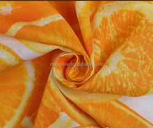 orange printed cotton fabrics for garments,curtains
