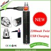 Factory wholesale Newest high capacity battery 2200mah vision ecig battery, Cool design ego twist battery O-Twist