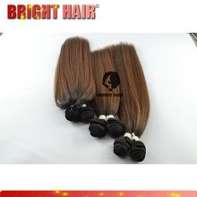 Relaxed hair dark brown color Yaki straight hair colored noble synthetic hair