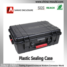 Dustproof plastic equipment case with handle