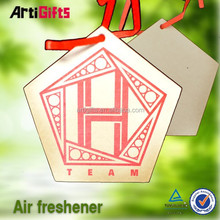 Factory supply absorbent novelty promotional paper car air freshener