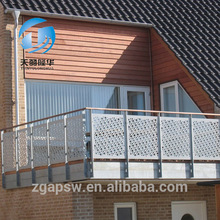 TYLH-balcon de chapa perforada en hierro lacado