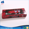 Hot sale wine glass rigid cardboard box with lid