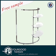 Stainless steel clothing store furniture /clothing display rack /clothing hanging