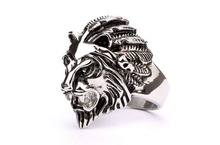 custom cute high quality stainless steel lion finger ring jewelry imported from china