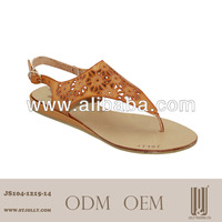 hot sales imitation leather lady woman sandal shoe