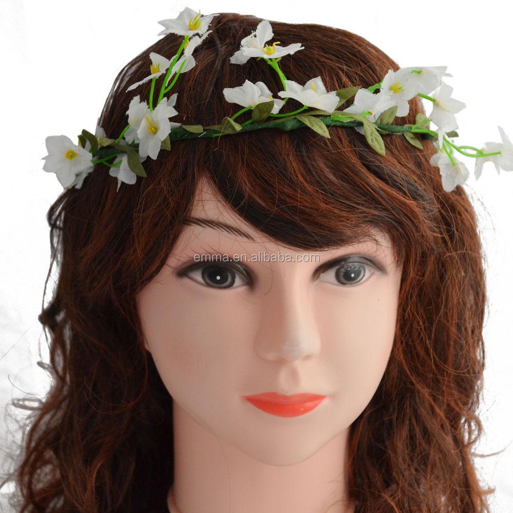2017 womens headband hair bridesmaid boho floral flower head hair h5004g izmirmasajfo