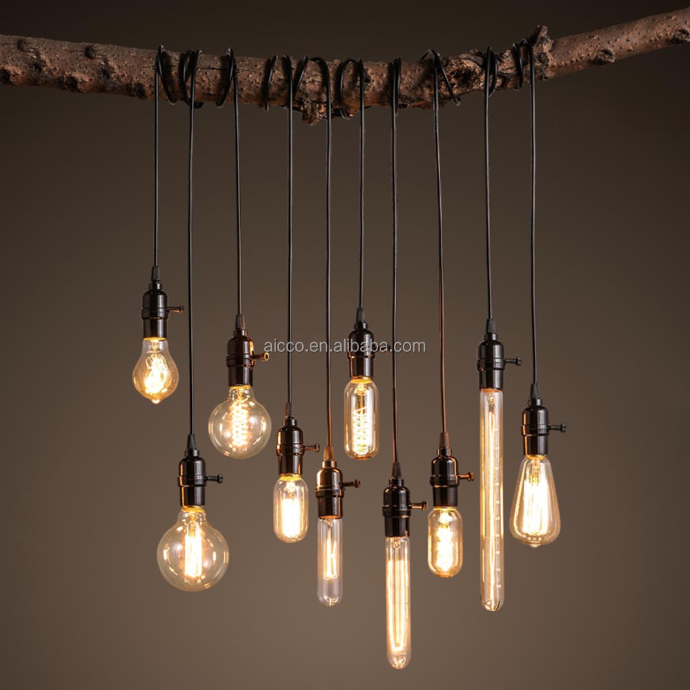 Decorative Hanging Pendant Light Vintage Industrial Loft Edison Bulb Led Pendant Restaurant Bar     -> Lampade A Led Grandi Dimensioni