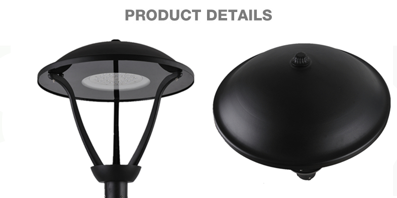 China factory 5 years warranty CE certificate IP65 LED lamp source garden post top fixture light