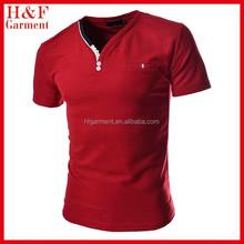 Mens Slim Fit Fashion V-neck Short Sleeve Tshirts