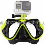 Outdoor Water Sports Diving Equipment Diving Mask Swimming Glasses for Go Pro HERO4