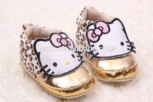 suave zapatilla de deporte de moda patrón de dibujos animados para niños pequeños zapatos de bebé