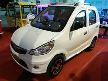 smart 4 seat electric car with open roof