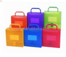 plastic file case with handle, portable file case, plastci file case