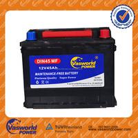 Maintenance Free Car Battery charger MF DIN45 12V 45ah Largestar