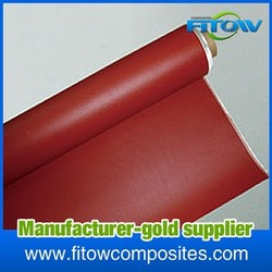 new composite materials silicon coated glass fabric with high performance, multipurpose