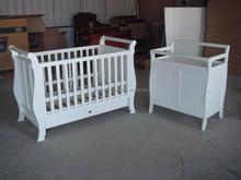 Wooden baby sleigh cots matching Australian standard
