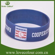 Factory custom debossed silicone bracelet one direction