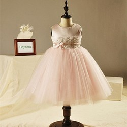 Ebay Hot Sale Children's Masquerade Party Dresses Pink TUTU Party Dress