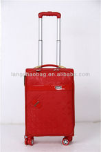 New style 2013 PU leather excellent quality inside trolley luggage
