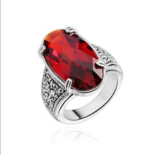 2015 low cost fashion design Gemstone engagement ring for women