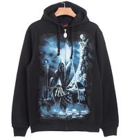 2015 Fashion Custom unique design Street punk rock hip hop fashion man hoody