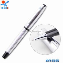luxury silver pen promotional gel ink pen custom logo pen