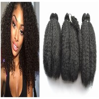 2015 high quality Natural kinky curl hair weavings