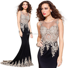 Chic Designer One Piece Girls Party Dresses Lace Applique Beaded Mermaid Evening Dress Corset Prom Dresses 2015