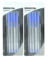 5 pcs one set blister card pack plastic ballpoint pen