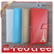 Wholesale CELLPHONE with diamond soft PU leather mobile phone case for samsung s6