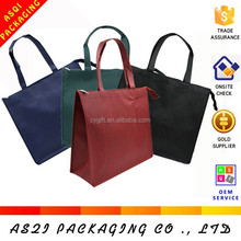 2015 hottest fashionable plain standard size reusable zipper wine red grocery shopping bag for women