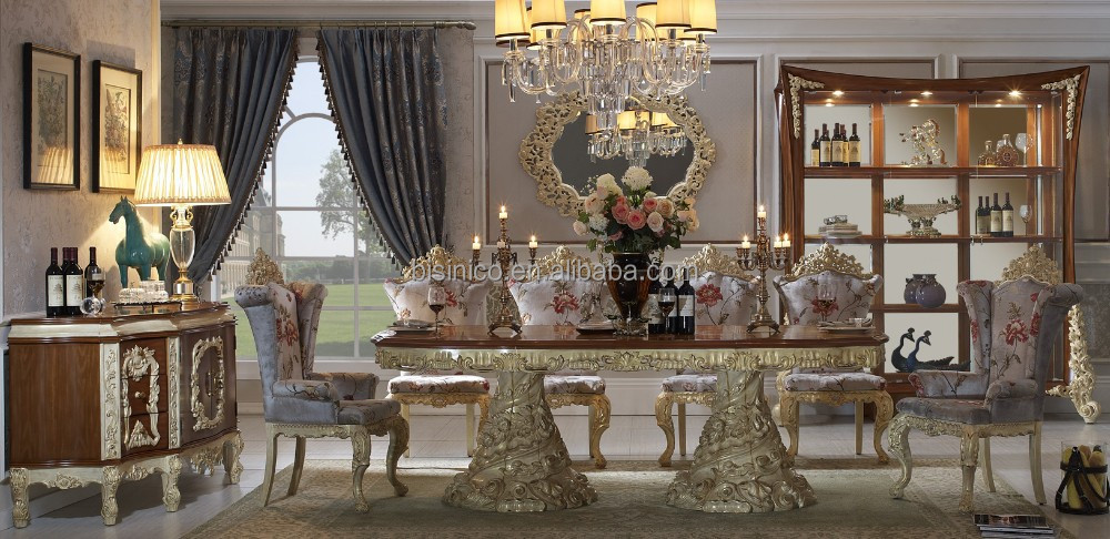 Baroque Antique Style Dining Table 100 Solid Wood Italy