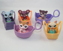 Custom plastic Littlest Pet Shop Action Figure Toy Birthday Children's Gift,oem plastic pvc action figure toy