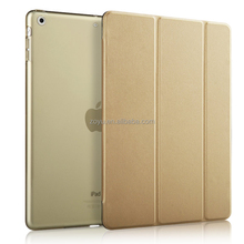 Magnetic Flip Stand Wake Up/Sleep Smart Cover Leather Case for ipad air case gold