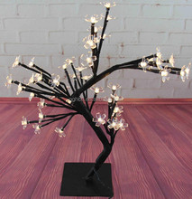 LV Garden decoration 40cm H x 48L warm white Led Tree light cherry flower tree light