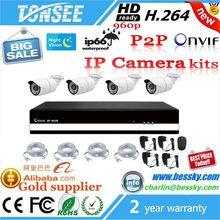CMOS Sensor 4 channel cctv camera system ip 4ch nvr kit poe nvr kit cctv home security kit